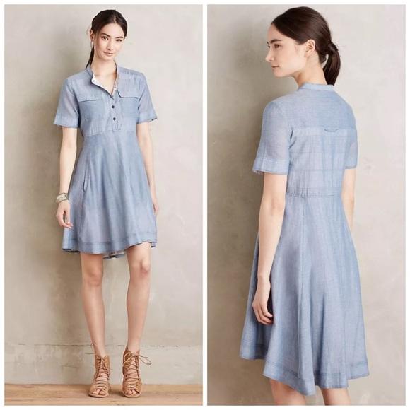 ce39fe7f8d3 Anthropologie Dresses   Skirts - Anthropologie Holding Horses Burnett  Shirtdress